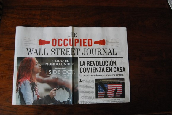 El diario Occupied Wall Street Journal. Foto: Víctor Casaus