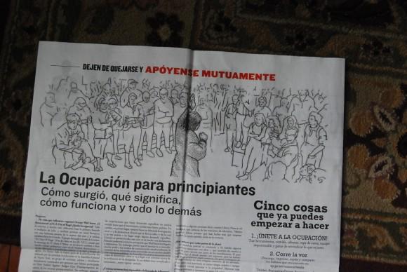 El diario Occupied Wall Street Journal. Foto: Víctor Casaus
