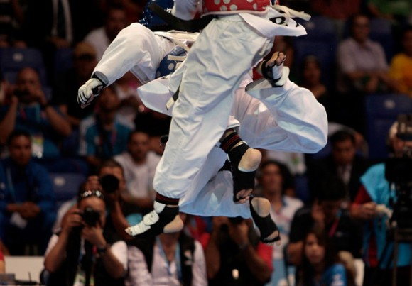 Taekwondo, mmm qué reguero. Foto: Ismael Francisco