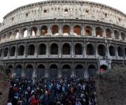 Indignados en Roma.