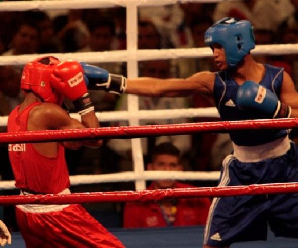 Roniel Iglesias azul gano la semifinal del boxeo en los 64 kg de los panamericanos de guadalajara Foto: Ismael Francisco