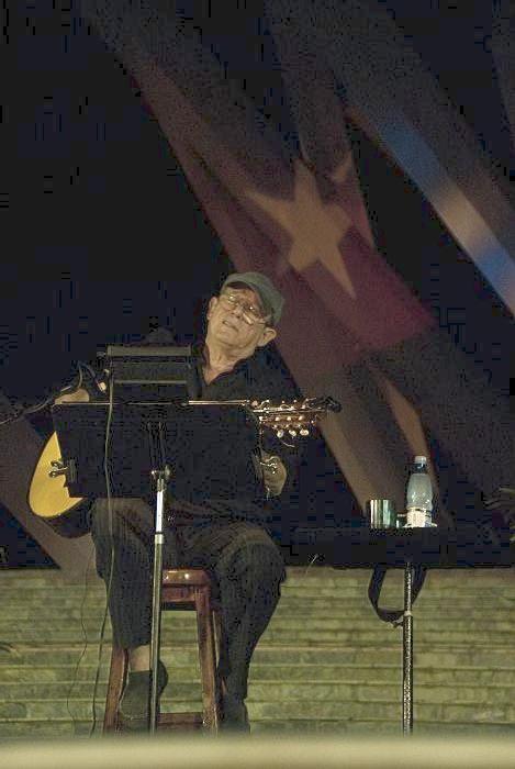Silvio Rodriguez en Santiago de Cuba. Foto: Iván Soca