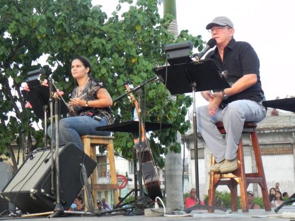Niurka y Silvio en elconcierto. Foto: Marianela Dufflar