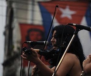 Tammy López Moreno en el barrio de Jesús María, La Habana Vieja. Foto: Silvio Rodríguez