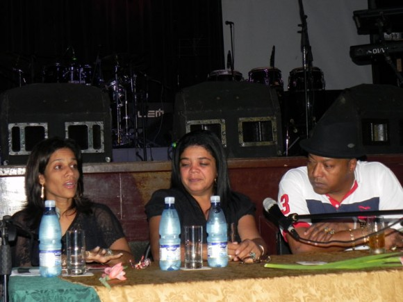 Nery González, Musicóloga, Elsida González, Directora de Música de la EGREM, José  y Luis Cortes. Foto: Marialena Duflar