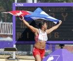 Yipsi Moreno celebra la medalla de Oro. Foto: AP