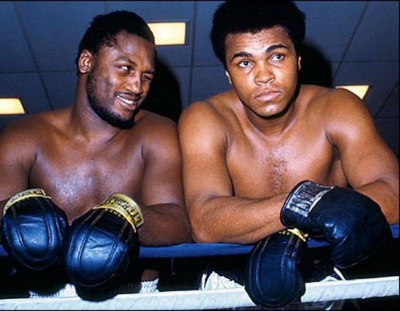 Joe Frazier y Muhammad Alí