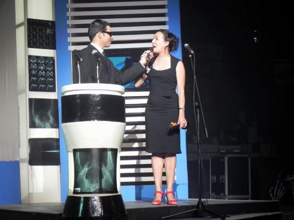 Liz Alfonso, la bailarina, coreógrafa y directora de su Compañía  Danzaria, recibió Premio Especial Lucas 2011.Foto. Marianela Dufflar.