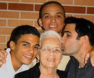 Antonio Guerrero y su familia