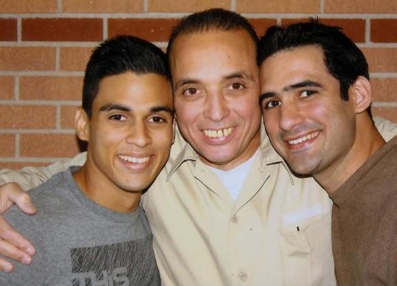Antonio Guerrero y sus hijos. Foto: Archivo