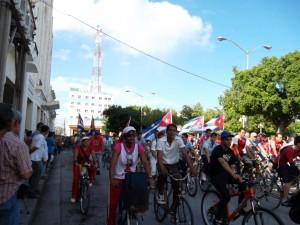 Arrancada de la Bicicletada por Los Cinco. Foto: Daylén Vega Muguercia