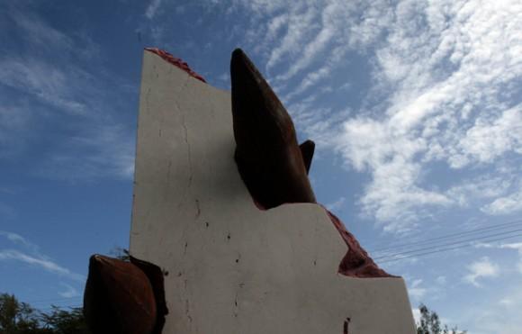 Boca de Sama, Holguin, donde se inauguro Monumento a las victimas de Terrorismo de Estado del artista Luis Silva. Foto: Ismael Francisco