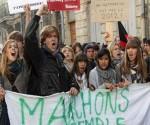 Manifestantes en Francia