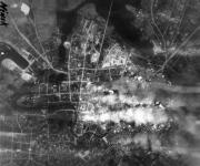 Mapa de los bombardeos alemanes sobre la ciudad de Minsk
