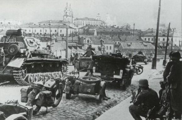 El 28 de junio de 1941 los alemanes ocuparon Minsk.