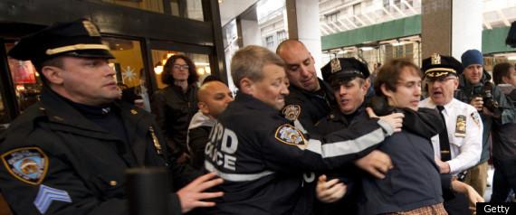 Periodistas arrestados en Nueva York. Foto: The Huffington Post