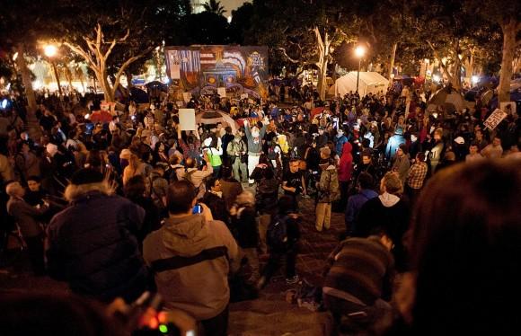 Occupy Los Angeles, 30 de noviembre de 2011
