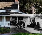 Pablo de la Torriente Brau y su esposa Teté Casuso, durante su segundo exilio (1935-1936), frente a la casa que habitó Edgar Allan Poe en el Bronx neoyorquino.