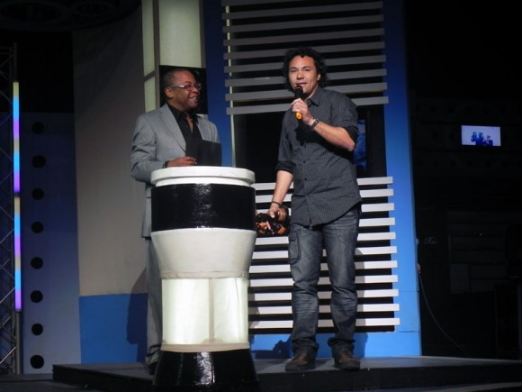 Alfredo Ureta, realizador que obtuvo mayor cantidad de premios en esta primera Gala de Lucas. Foto. Marianela Dufflar