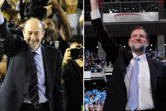 Composición: Rubalcaba/ JAVIER SORIANO / AFP – Rajoy/ AFP PHOTO / LLUIS GENE