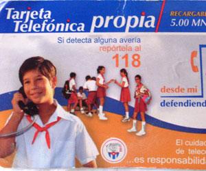 Tarjeta telefónica propia