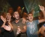Habitantes de Gaza celebran hoy la noticia del canje Foto: Mohammed Salem/Reuters