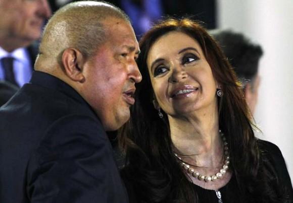 Hugo Chávez y Cristina Fernández en CELAC