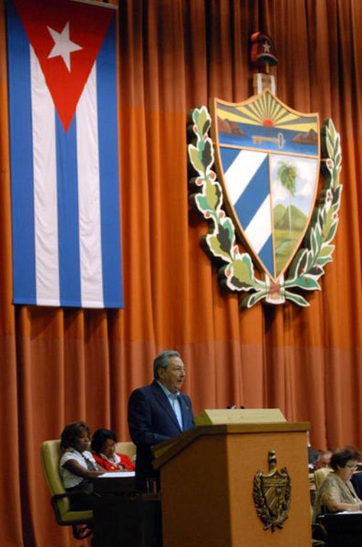 Raúl Castro en la Asamblea Nacional del Poder Popular. Foto: AIN