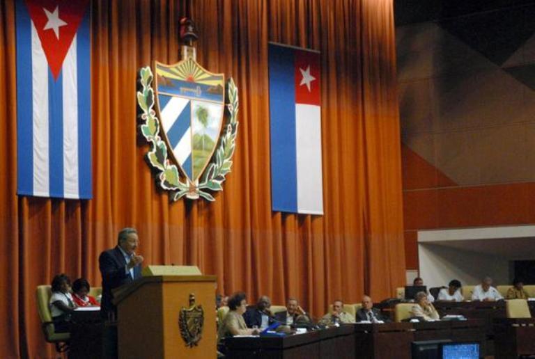 Raúl Castro Asamblea Nacional del Poder Popular 2011. Foto: AIN