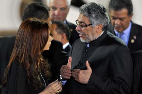 Lugo y Cristina en CELAC