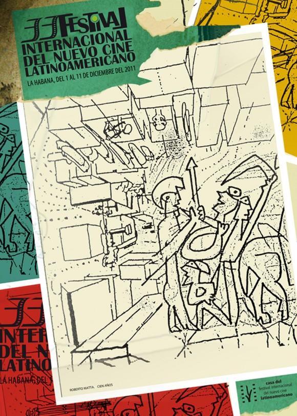 Cartel del 33 Festival del Nuevo Cine Latinoamericano de La Habana