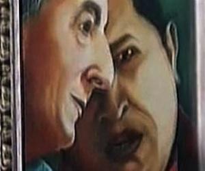 Pintura de Hugo Chávez