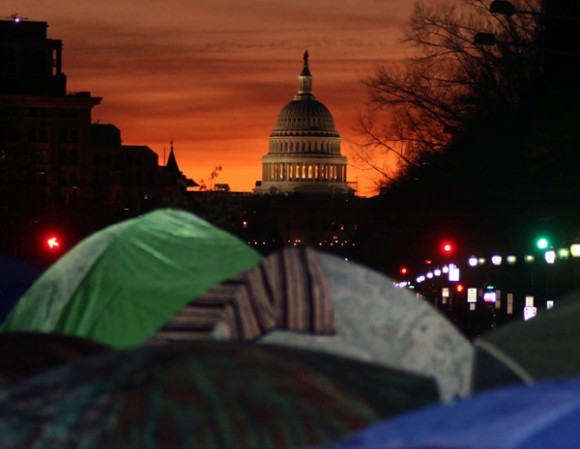 Occupy en Washington. Foto: Scott Galindez