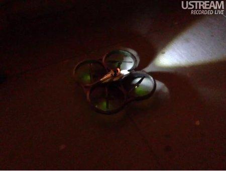 El Ocucóptero en una prueba en la calle el pasado 18 de diciembre
