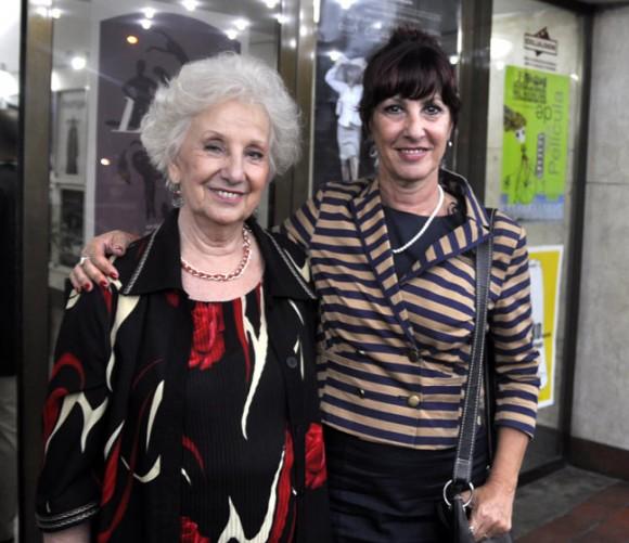 Estela Barnes de Carlotto y Susú Pecoraro. Foto: Kaloian