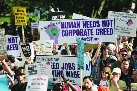 Marcha ante la Cámara de Comercio de Washington DC.