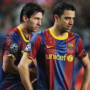 Xavi y Messi, una vez más