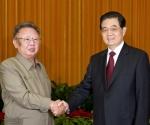 El líder de Corea del Norte, Kim Jong Il, se reunió con su homólogo chino, Hu Jintao, en mayo de 2011