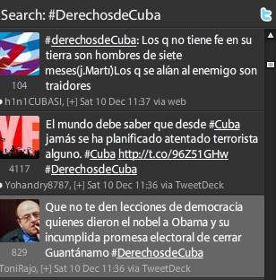 #DerechosdeCuba en Twitter