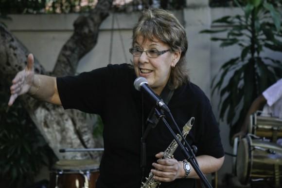 Lucía Huergo en el Jardín de la gorda. Foto: Roberto Chile