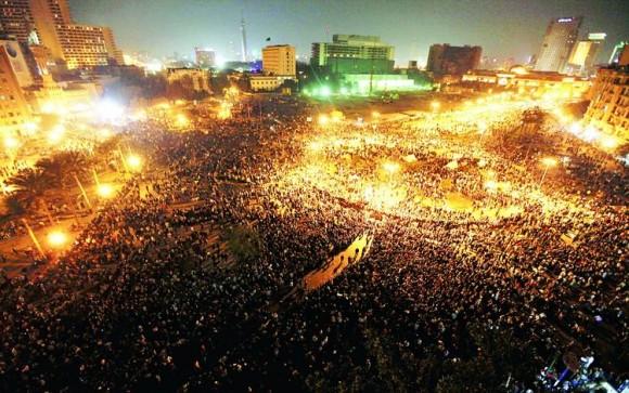 Manifestantes en Egipto.