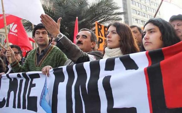 Marcha estudiantil en Chile
