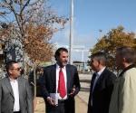 Mauricio Rodríguez, Segundo Secretario de la Embajada de Venezuela en España, en una visita a los astilleros de Navantia en noviembre.