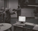 Captura de una cámara de seguridad durante el atraco a un banco en Arnstadt en septiembre de 2011, que fue cometido, presuntamente, por un grupo neonazi alemán.