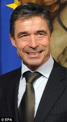 Fogh Rasmussen, secretario General de la OTAN. Foto: Daily Mail