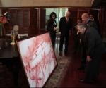 El cuadro que le obsequió Raúl a Chávez: la expedición del yate Granma.