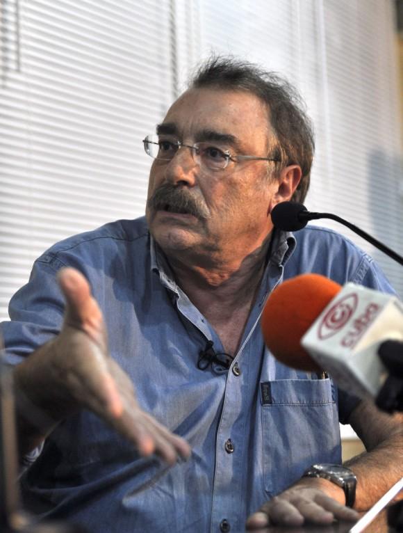 Encuentro con Ignacio Ramonet. Pabellón Cuba. Foto: Kaloian
