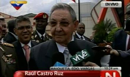 Raúl Castro en Caracas
