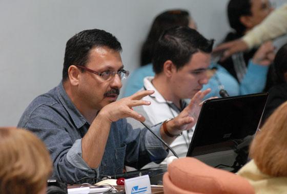 Taller Los medios alternativos y las redes sociales. Foto: Roberto Suárez