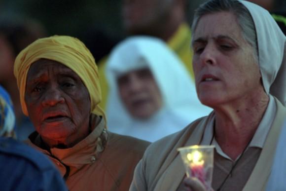 Llega la Virgen de la Caridad a la Plaza de la Revolución. Foto: Ismael Francisco